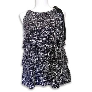 NEW Michael Michael Kors Tiered Halter Top Blouse Size M